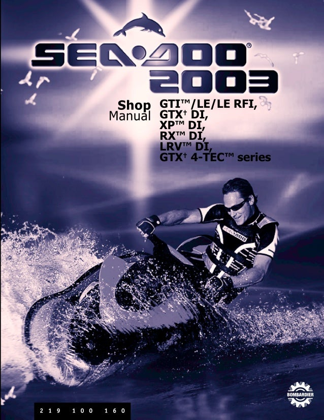 2003 Sea Doo Gti Ultraviolet 5598 Service Repair Manual