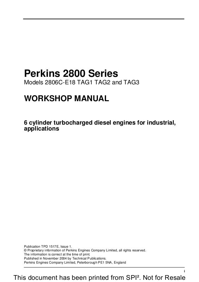 Perkins Engines Workshop Parts Operators Manuals Printed and