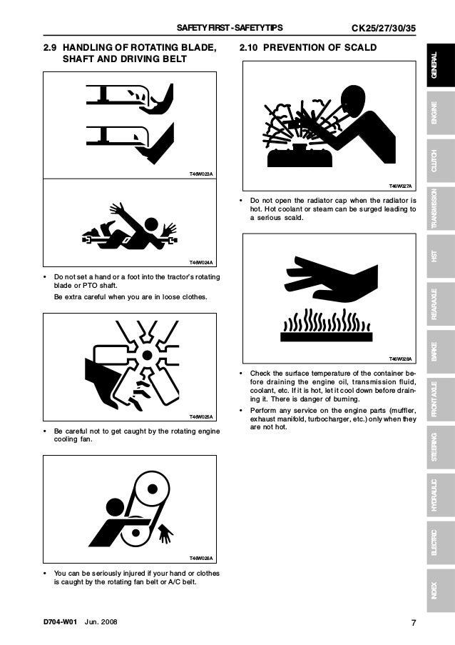 Kioti Daedong CH27H Tractor Service Repair Manual