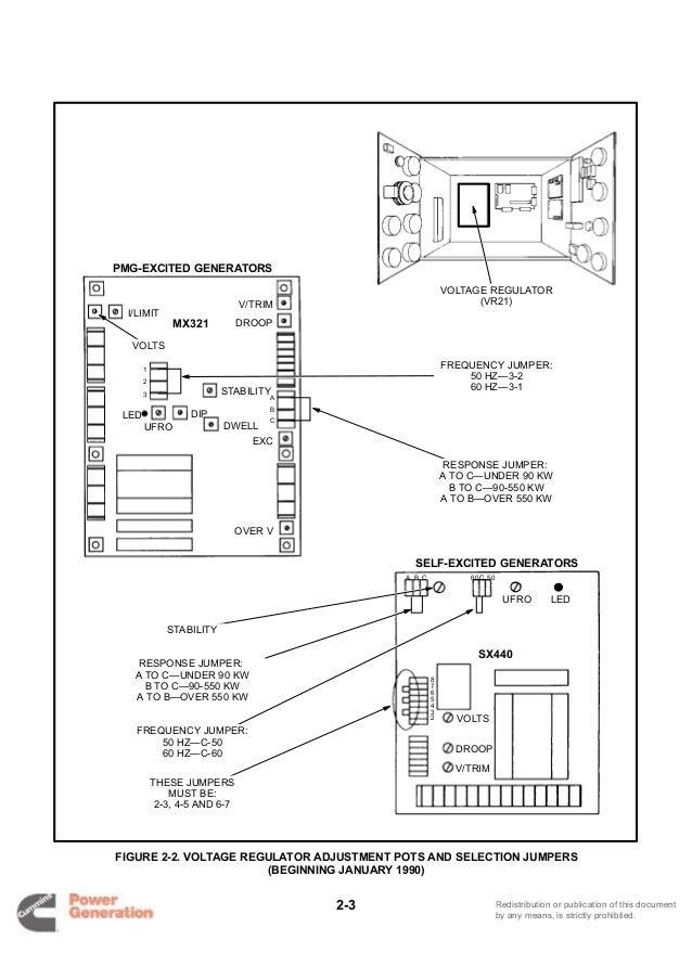 Cummins Onan DGDB Detector Control Generator Set Service
