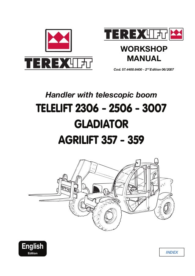 terex telelift 2506 gladiator agrilift telescopic handler service repair  manual