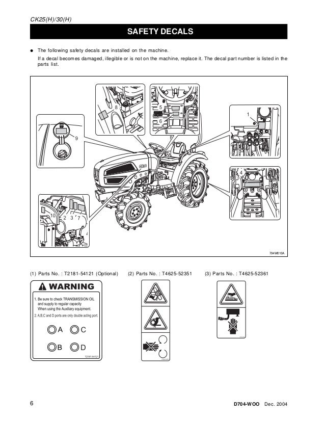Heavy Equipment Parts Attachments Kioti Tractor Parts Manual Lk30 Lt72 Business Industrial