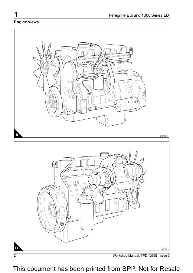 Perkins Peregrine Edi And 1300 Series Edi Wk Diesel Engine Service Re
