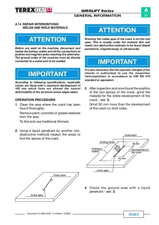 TEREX GIROLIFT 4010 PERFORA TELESCOPIC HANDLER Service Repair Manual