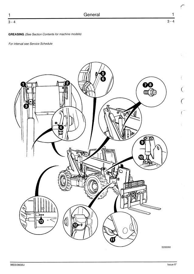 JCB 505-19 TELESCOPIC HANDLER Service Repair Manual ALL