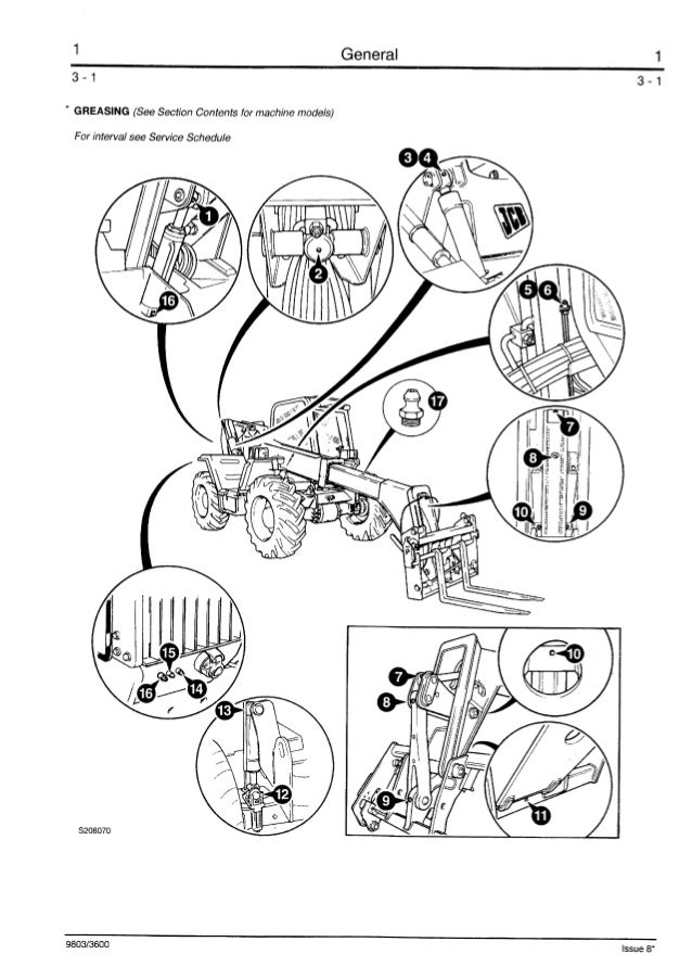 Jcb 525 58 Telescopic Handler Service Repair Manual All561001 Onwards