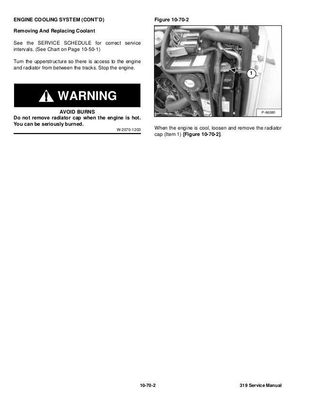 BOBCAT 319 COMPACT EXCAVATOR Service Repair Manual S/N