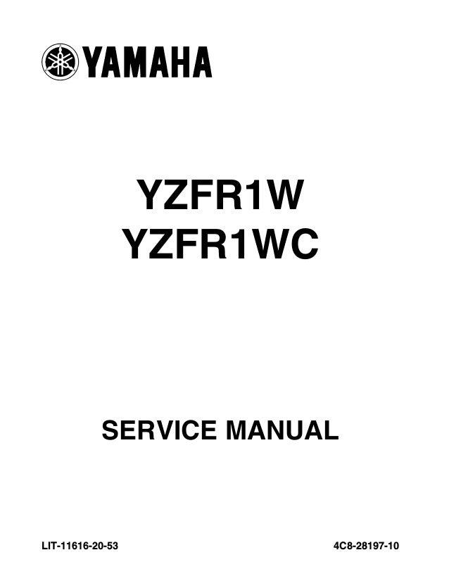 2008 Yamaha YZFR1000XLC Service Repair Manual