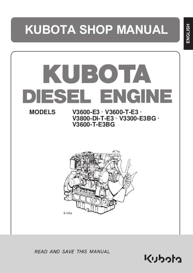 kubota v3800di t e3b diesel engine service repair manual Kubota Diesel Z600 Engine Parts Diagram