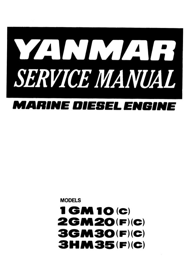 Yanmar 2GM20F Marine Diesel Engine Service Repair Manual