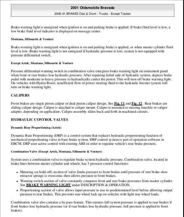2001 oldsmobile bravada service repair manual rh slideshare net 2001 oldsmobile alero repair manual pdf 2001 oldsmobile aurora repair manual
