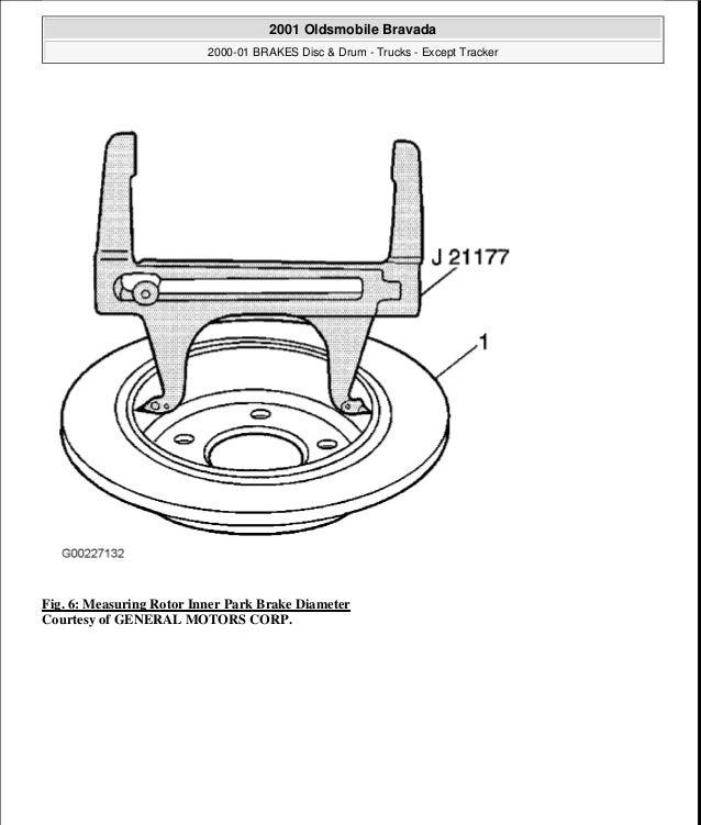 2000 OLDSMOBILE BRAVADA Service Repair Manual