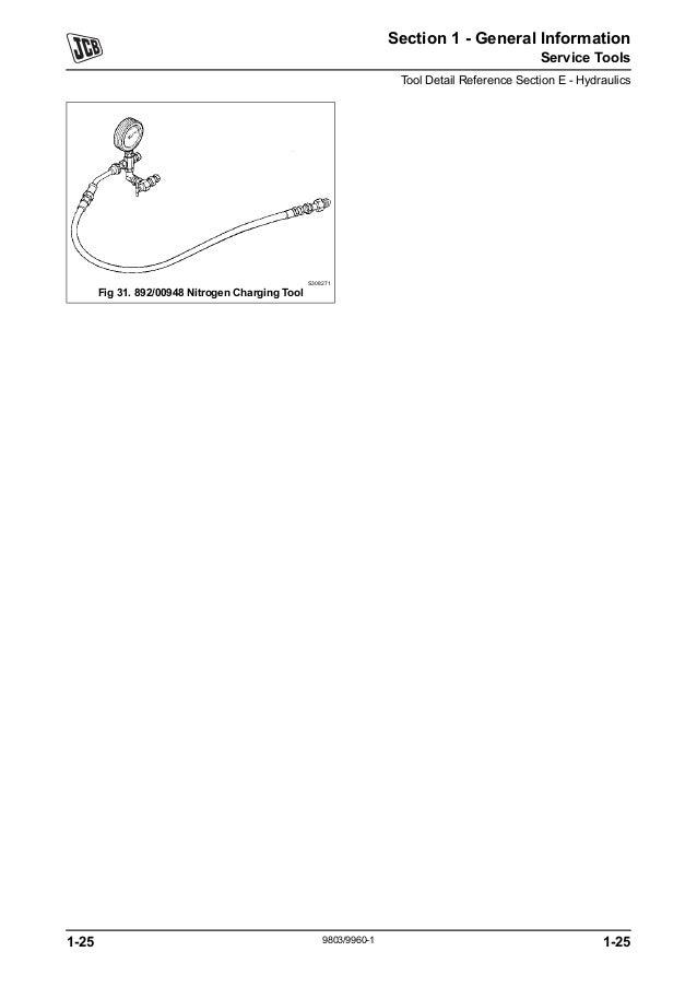 JCB 1CX BACKHOE LOADER Service Repair Manual SN(751600