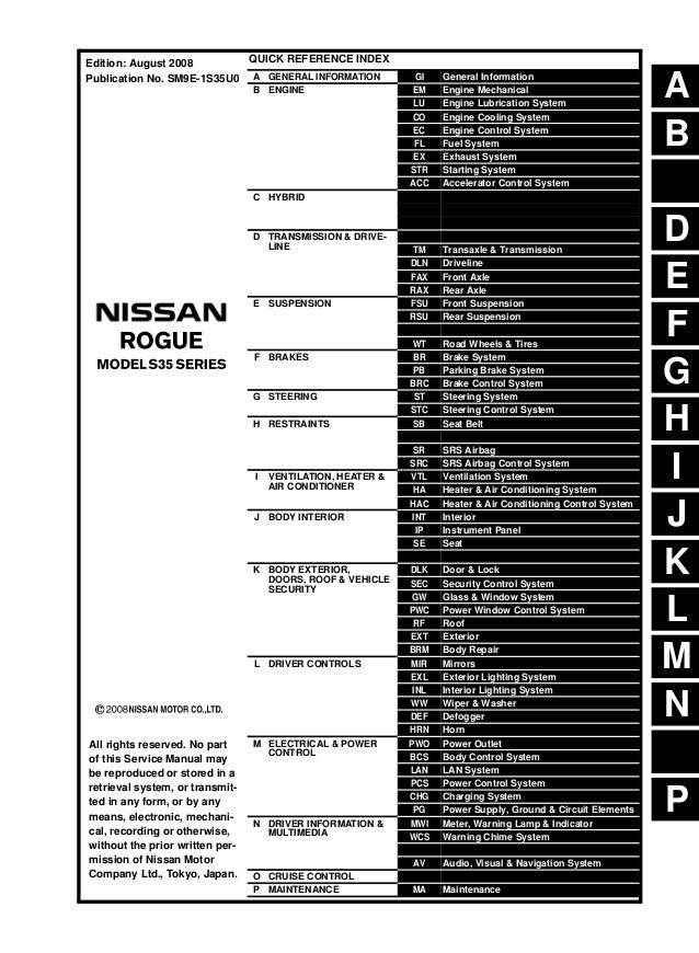 Perfect Nissan 2012 Nissan Rogue Manual