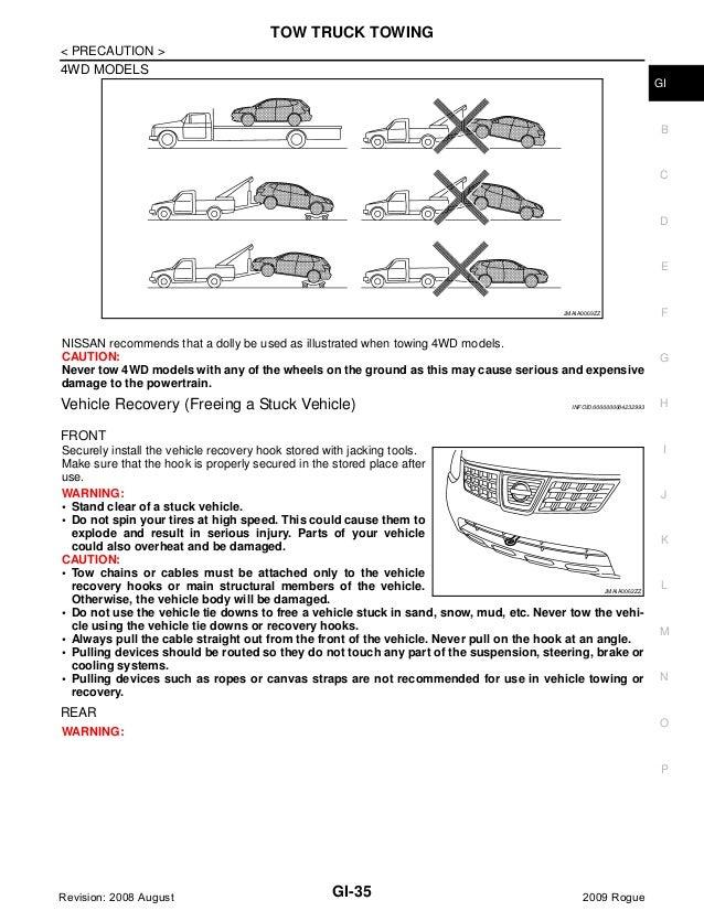 2009 Nissan Rogue Service Repair Manual