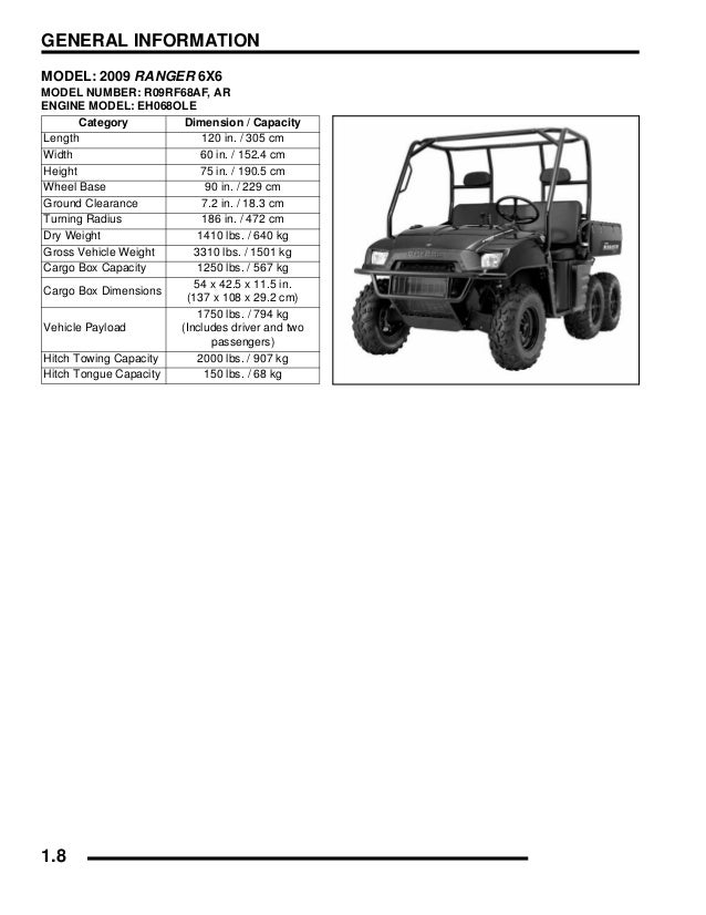 2010 Polaris Ranger 700 6x6 Service Repair Manual