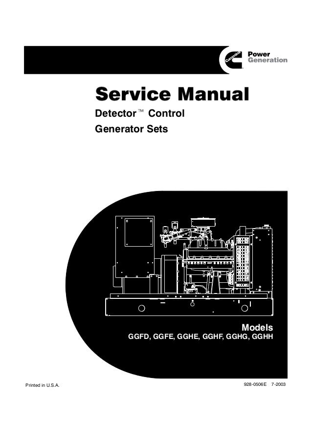 cummins onan gghg detector control generator sets service  isolation transformer wiring diagram onan avr #10