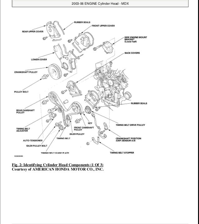 2001 ACURA MDX Service Repair Manual