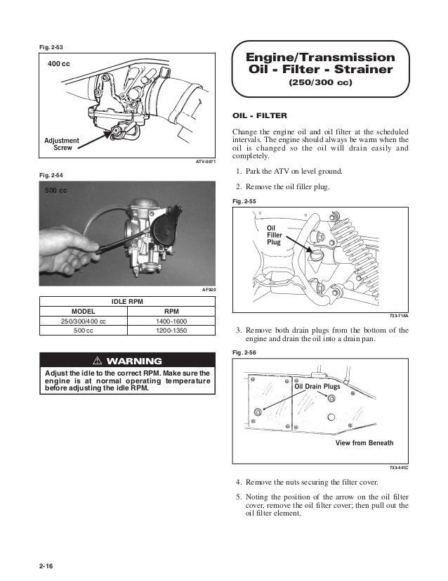 2001 Arctic Cat ATV 250 2X4 Service Repair Manual