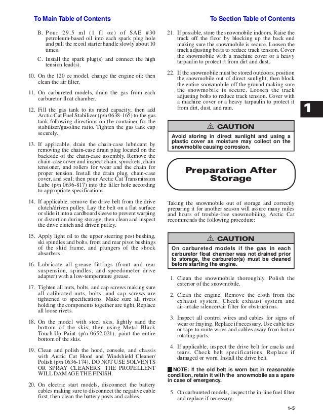 2001 Arctic Cat ZR 600 SNOWMOBILE Service Repair Manual