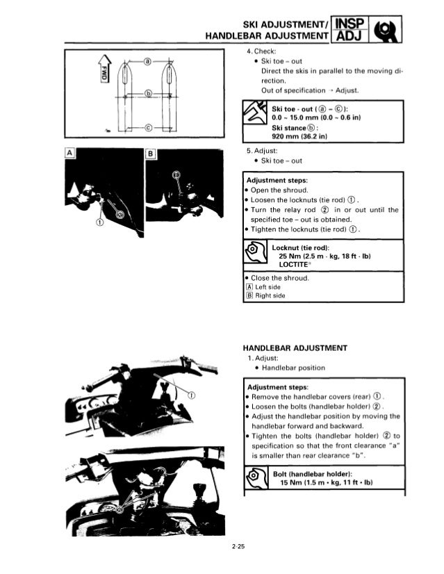 1994 YAMAHA VENTURE VT480 SNOWMOBILE Service Repair Manual