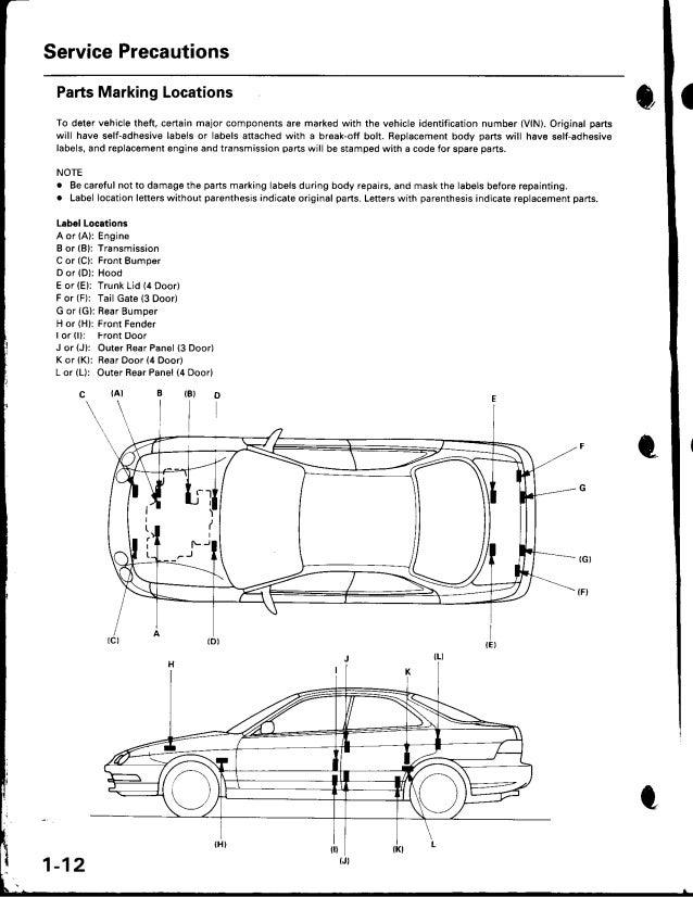 2001 ACURA INTEGRA Service Repair Manual