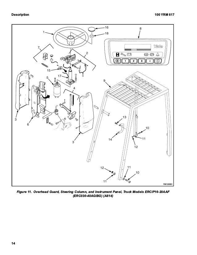Yale B814 Erp16 20aaf Lift Truck Service Repair Manual