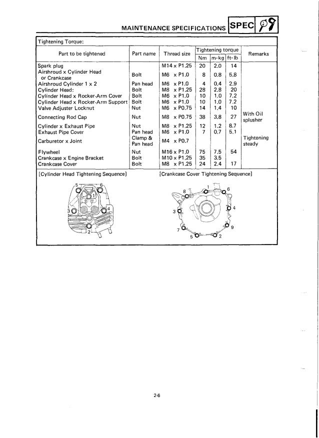 Yamaha G9-AG Golf Cart Service Repair Manual