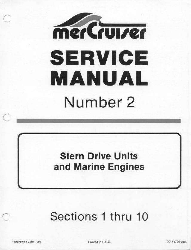 mercury mercruiser mie 233 stern drive units and marine engine 1974 rh slideshare net Mercruiser 5.0 MPI Engine Mercruiser Sterndrive Parts
