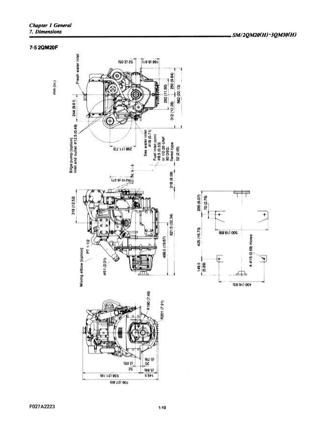 Yanmar 2QM20Y Marine Diesel Engine Service Repair Manual