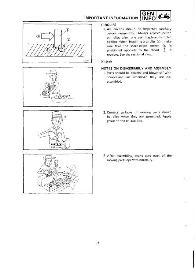 Yamaha g 9 service manual