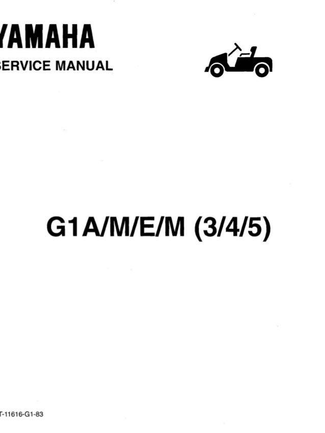 yamaha g1 golf car service repair manual rh slideshare net yamaha golf cart service manual free yamaha golf car service manual