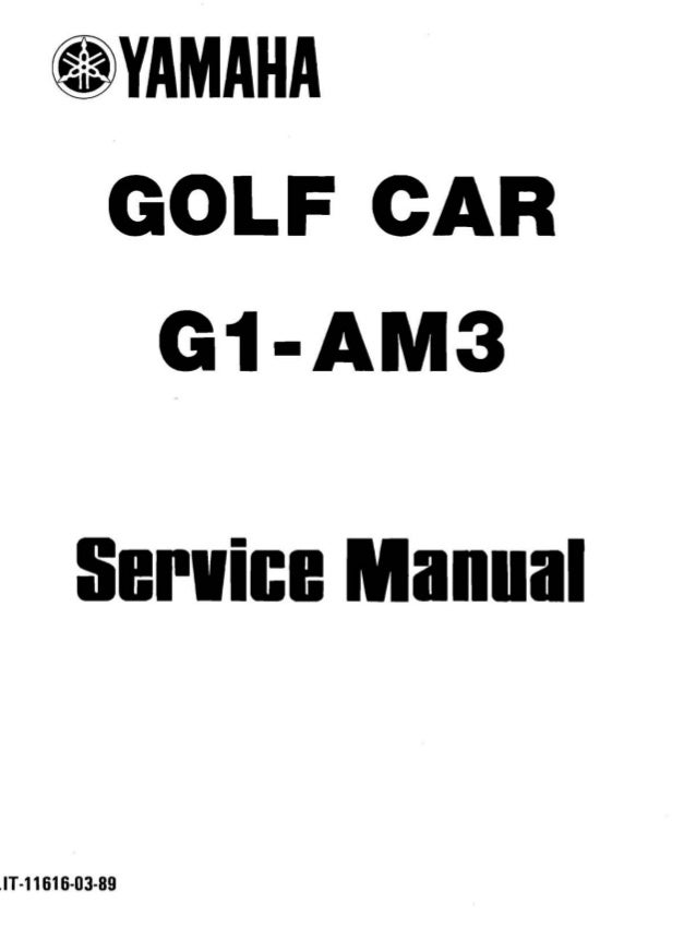 Yamaha G1 Golf Car Service Repair Manual