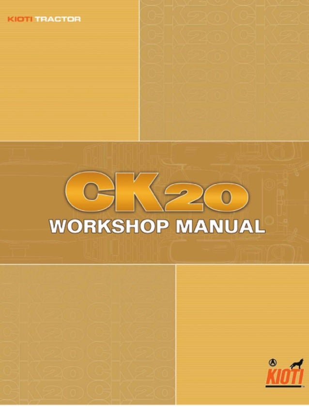 Kioti Daedong Ck20 Tractor Service Repair Manual