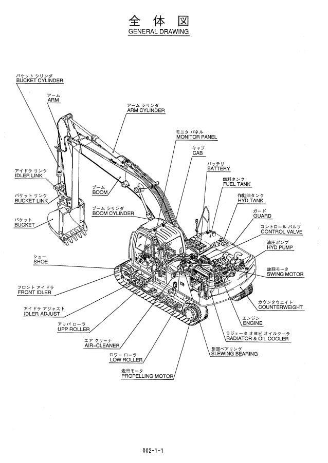 Kobelco SK210LC Hydraulic Excavator Parts Catalogue Manual