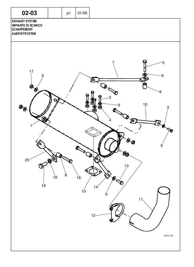 New Holland LS180.B Skid Steer Loader Parts Catalogue Manual on