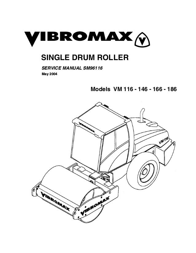 Jcb Vibromax Vm146 Single Drum Roller Service Repair Manual