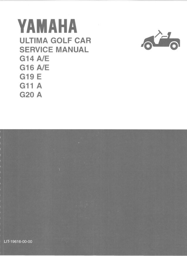 yamaha g16 e golf cart service repair manual rh slideshare net Parts Manual Owner's Manual