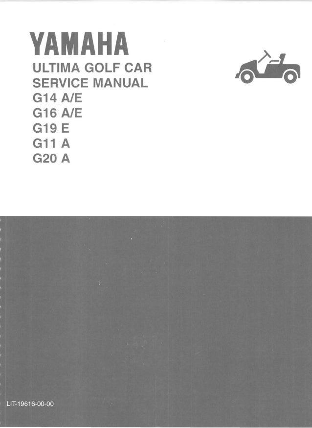 yamaha g16 e golf cart service repair manual rh slideshare net yamaha golf cart service manual free download yamaha golf car service manual