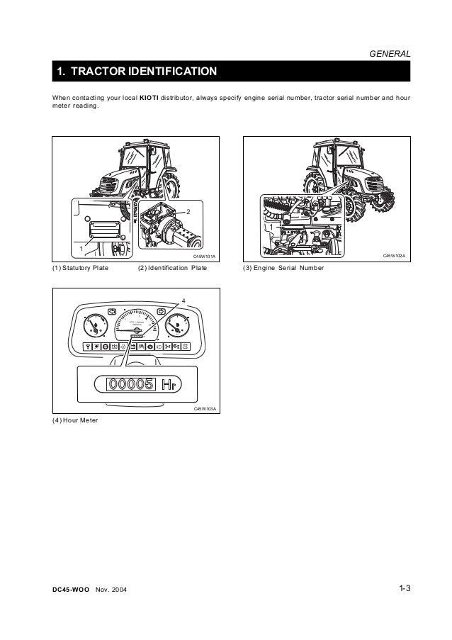 Kioti Daedong DK45S Tractor Service Repair Manual