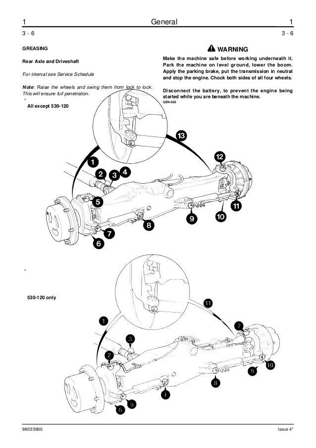 JCB 530-120 TELESCOPIC HANDLER Service Repair Manual ALL