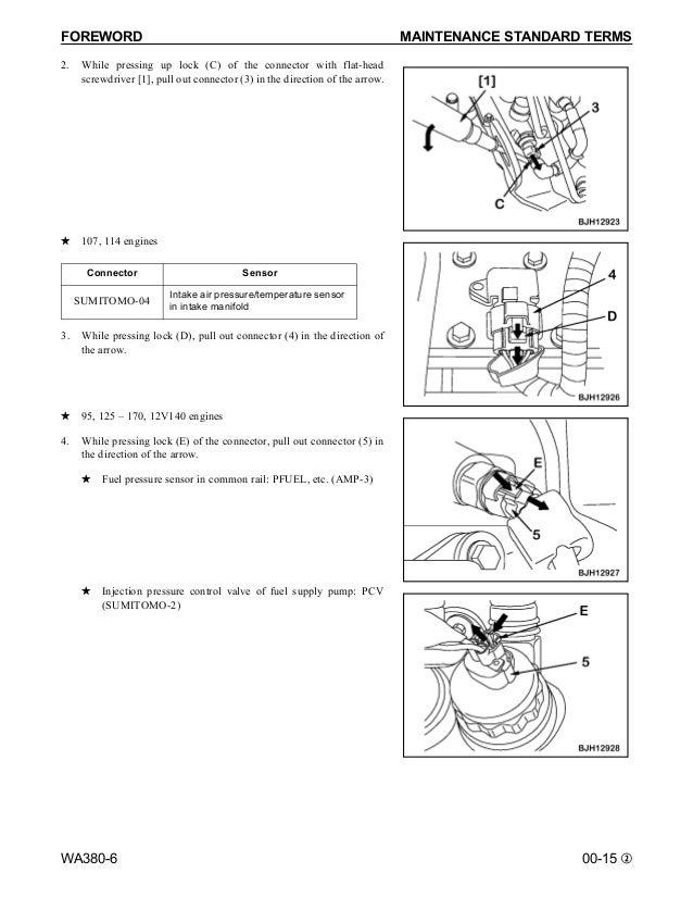 Komatsu WA380-6 Wheel Loader Service Repair Manual SN