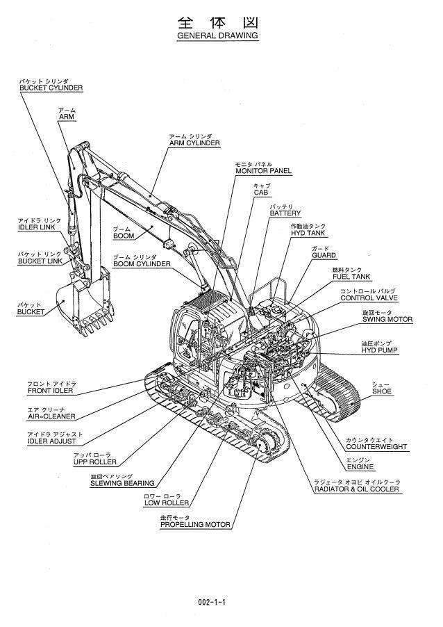 Kobelco SK235SR Hydraulic Excavator Parts Catalogue Manual