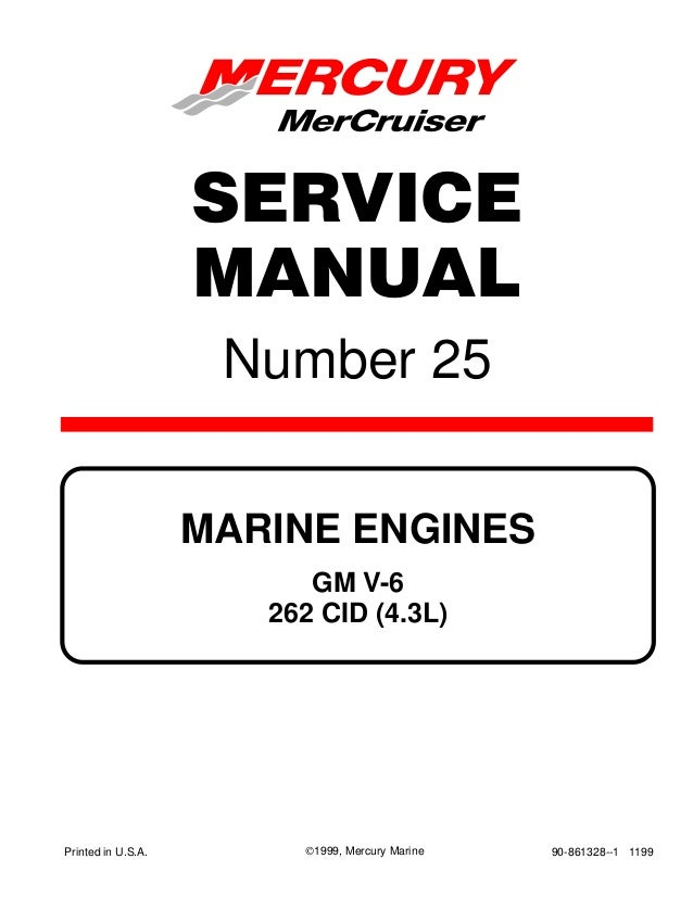 MERCURY MERCRUISER MARINE ENGINES GM V6 262 CID (4.3L) 1998 Service R…SlideShare