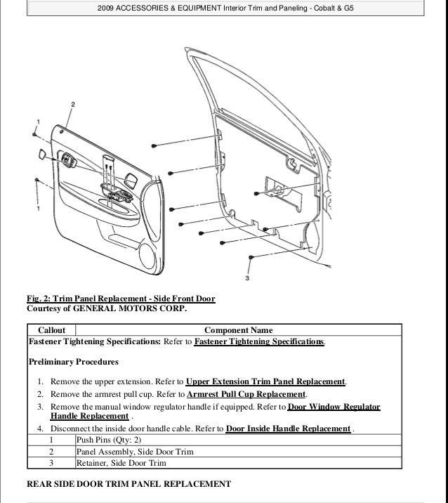 2008 Chevrolet Cobalt Service Repair Manual