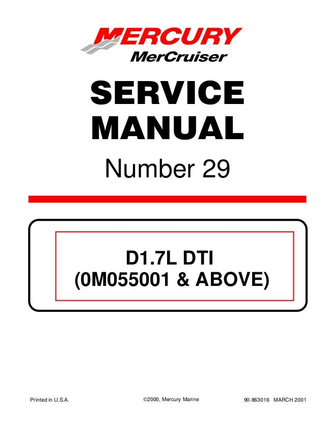 mercury mercruiser d1 7l dti (0m055001 and above) service repair manu\u2026mercury mercruiser d1 7l dti (0m055001 and above) service repair manual