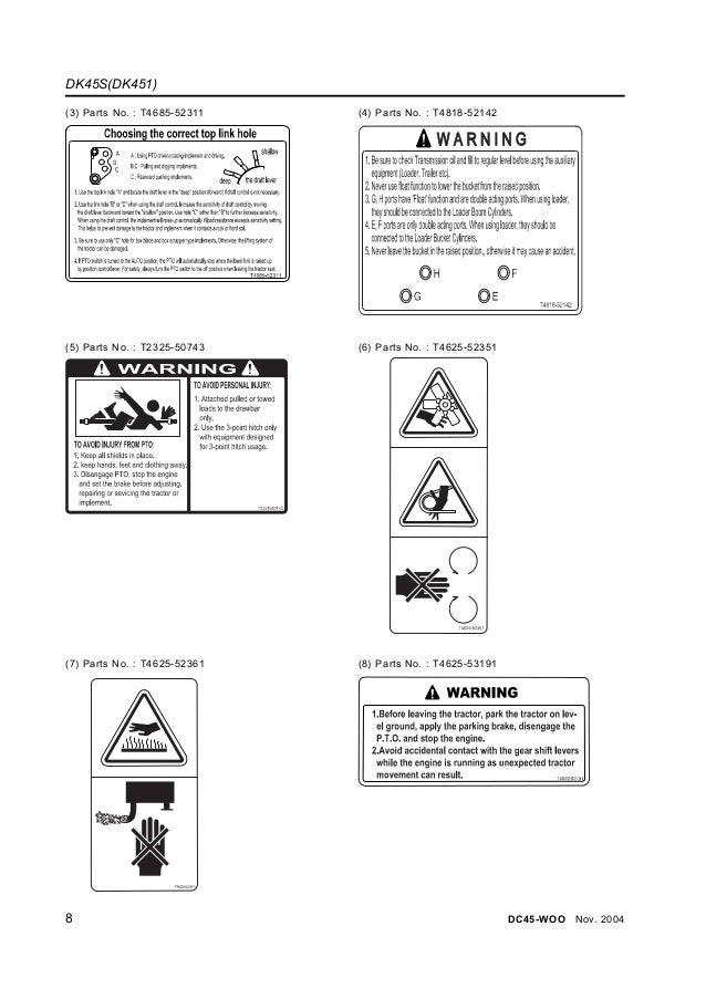 Kioti Daedong Dk451 Tractor Service Repair Manual