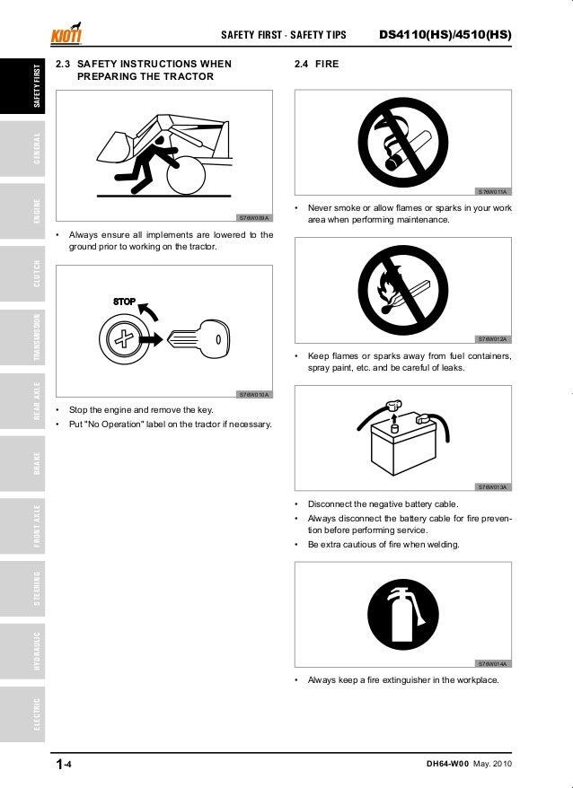 Kioti Daedong DS4510HS Tractor Service Repair Manual