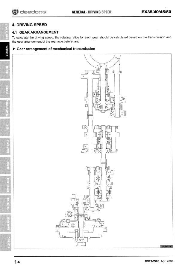 Kioti Daedong EX40 Tractor Service Repair Manual