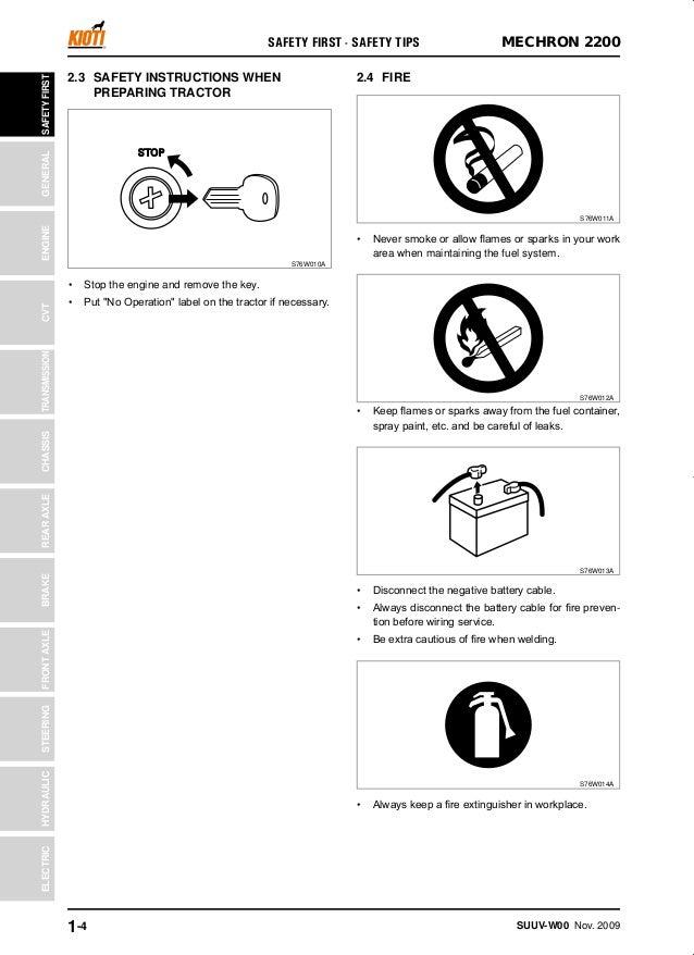 Kioti Daedong MECHRON 2200 UTV Service Repair Manual